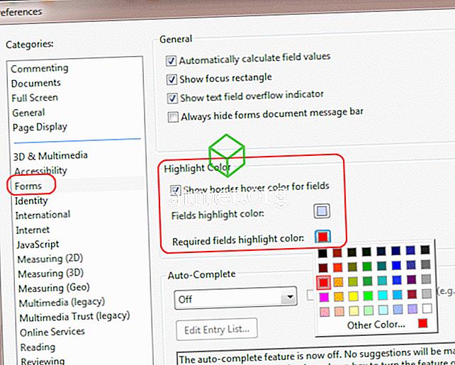 Adobe Reader: Mainiet izcelto krāsu