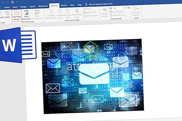 """Kaip siųsti masinius el. Laiškus naudojant """"Microsoft Word"""" el. Laiškus"""