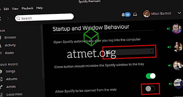 Spotify: Inaktivera automatisk start