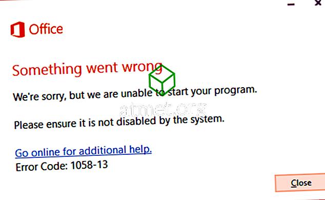 """Fix Office 2013 """"Midagi läks valesti"""" Viga 1058-13"""