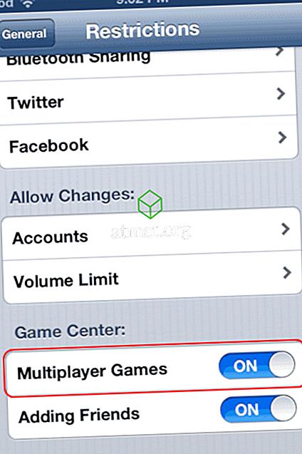 """iPhone & iPad: Επιδιόρθωση """"Μη διαθέσιμο για πολλούς παίκτες - Δεν επιτρέπεται η αναπαραγωγή παιχνιδιών για πολλούς παίκτες σε αυτήν τη συσκευή"""""""