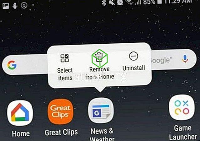 Како уклонити икону са почетног екрана Галаки С9