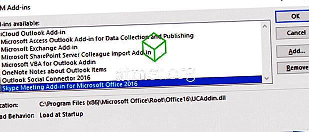 Outlook: تمكين / تعطيل الوظائف الإضافية