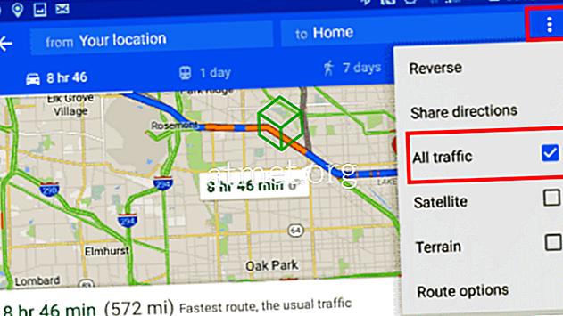 Google: Miten liikenne työhön tai kotiin tarkistetaan