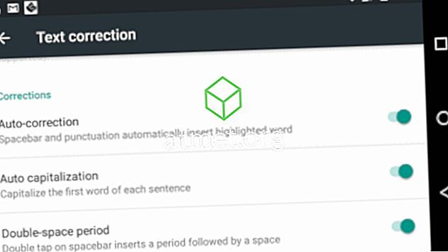 Android 8: Деактивирайте автоматичното коригиране