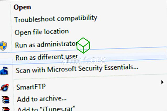 """Windows: iespējojiet """"Palaist kā citu lietotāju"""""""