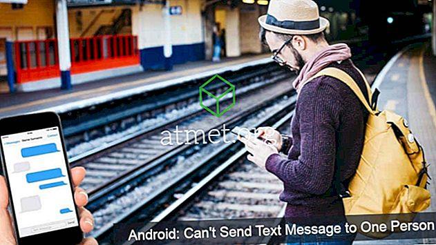 Android: Tekstiviestiä ei voi lähettää yhdelle henkilölle