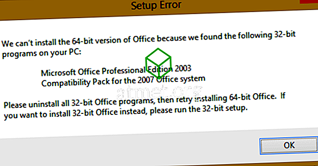 "MS Office: Fix ""Setup Error - Vi kan ikke installere 64 bit versjon av Office"" Feil"