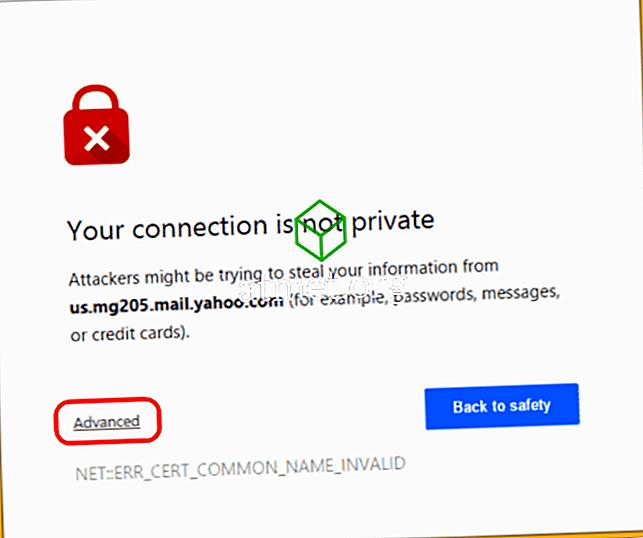 """Google Chrome: Bypass """"Din anslutning är inte privat"""" Meddelande"""