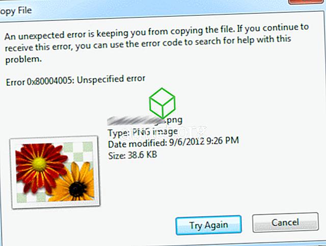 """Fix """"Ett oväntat fel håller dig från att kopiera filen"""" Fel i Windows"""