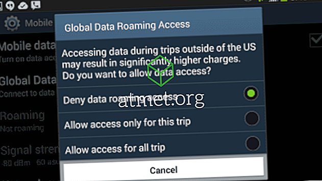Slå på eller av data roaming på Galaxy S8