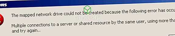 Windows:「同じユーザーによるサーバーまたは共有リソースへの複数の接続」エラーを修正