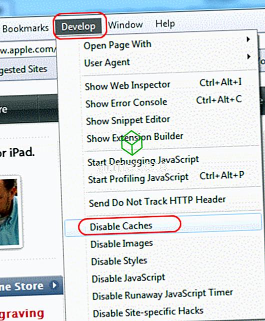 Apple Safari: pilnībā atspējojiet kešatmiņu