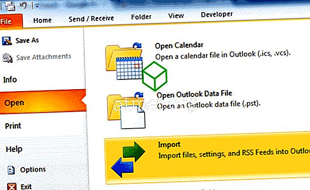 Outlook 2016: Verileri Yedekleme / Verme ve Alma