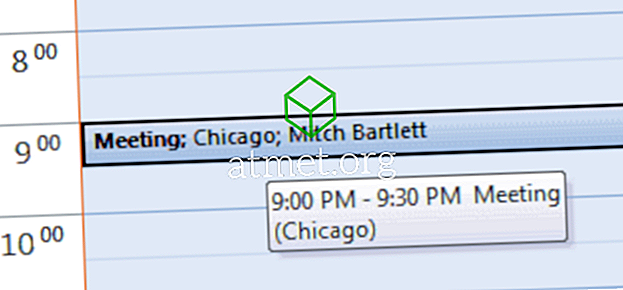 Outlook: تحقق من دعوة الاجتماع المقبولة