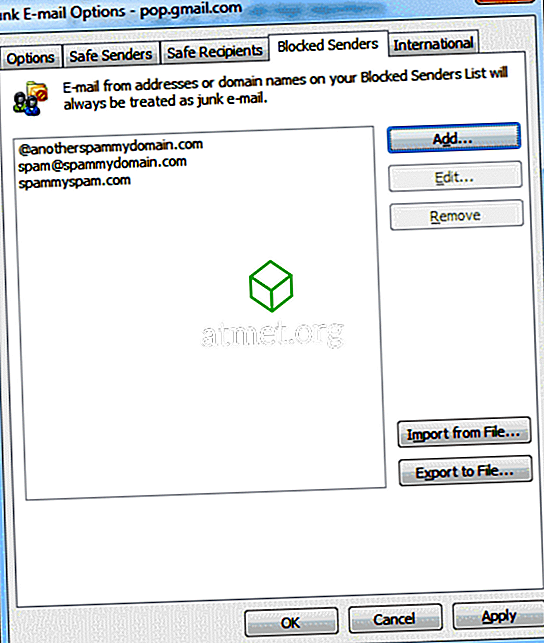 Outlook 2016 i 2013: blokowanie adresów e-mail i domen