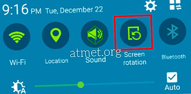 Samsung Galaxy Tab: Включване / изключване на заключване на ориентацията на екрана