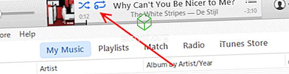 iTunes 12: Як перемішати або повторити музику