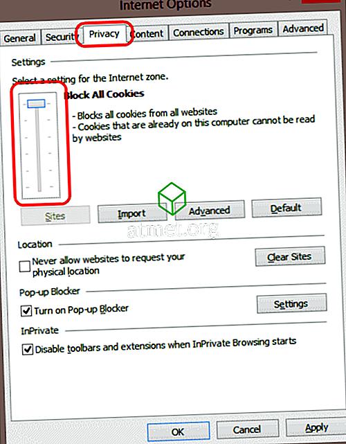 Internet Exploreris 11 küpsiste lubamine või keelamine