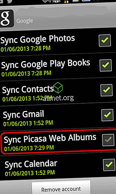 Android: Kan inte ta bort foton från Galleri App